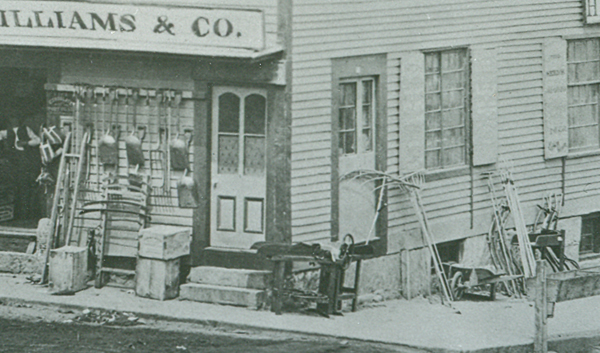 Scyths and snaths available in New London ca. 1860